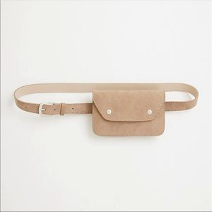 Torrid Taupe Beige Belt Bag Fanny Pack with Snaps